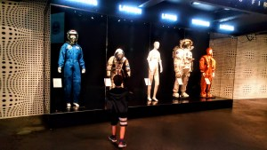 Astronauts display in the new foyer