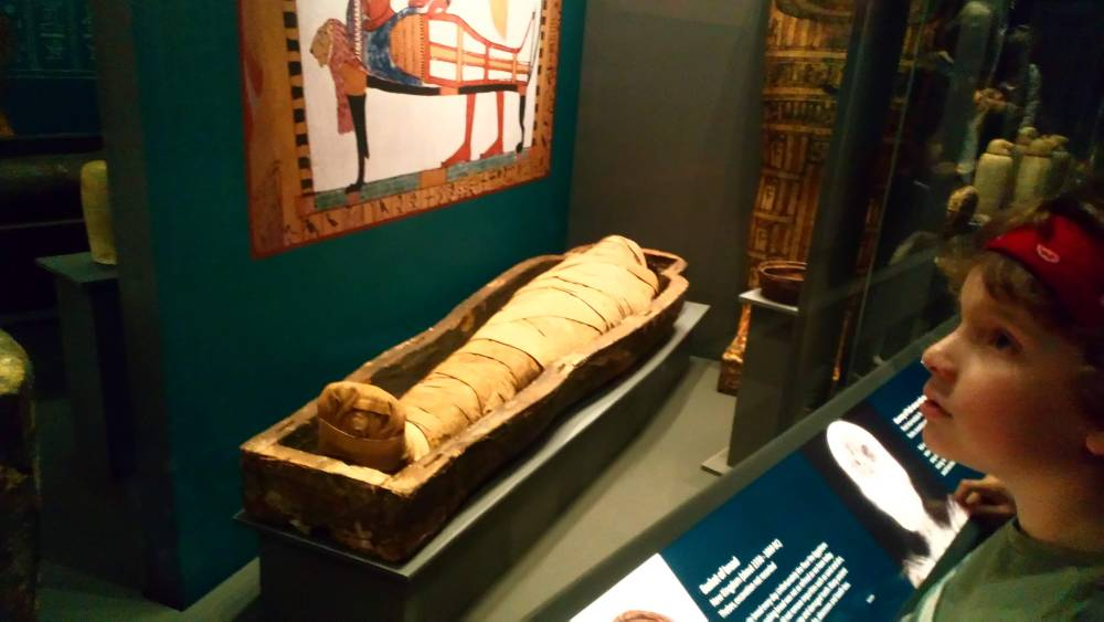 The mummy room at the World Mueum