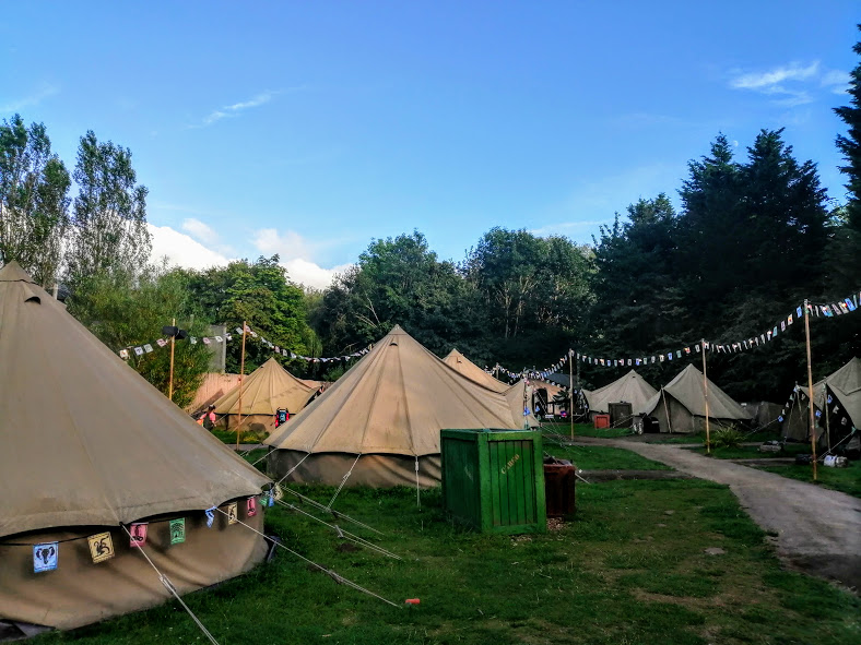 The Glamping campsite at Chessington
