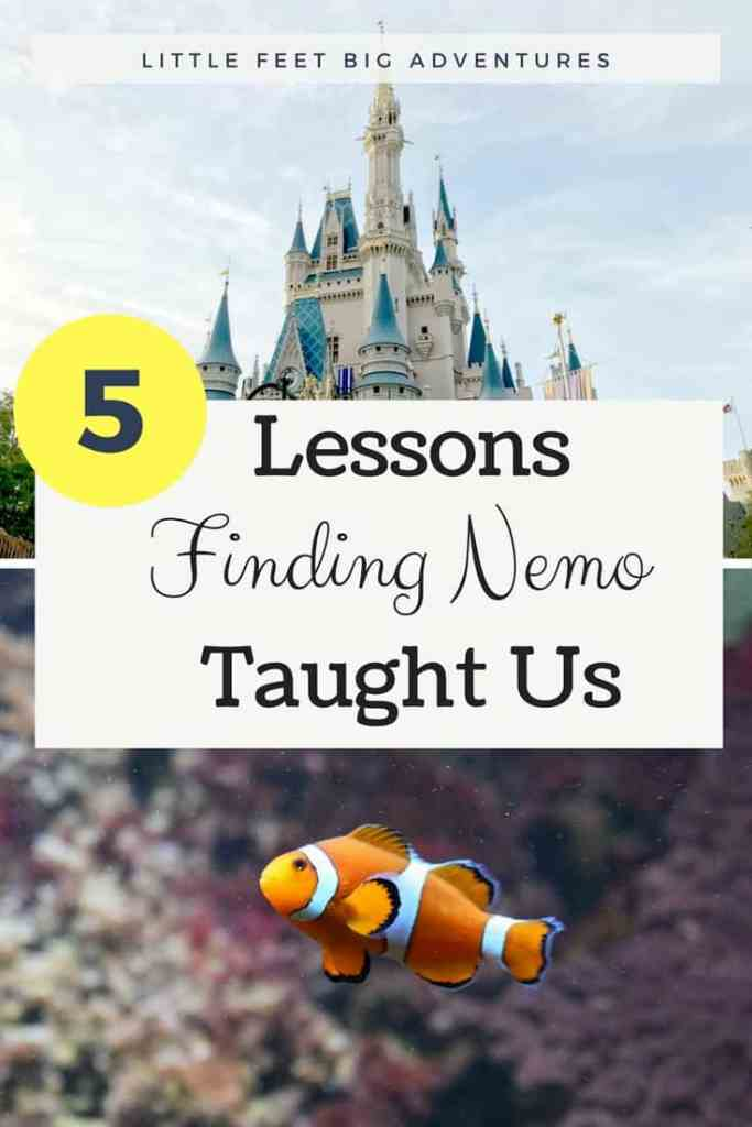 5 life lessons we learns from Disneys Finding Nemo. Great lessons for kids and adults were found throughout the movie.