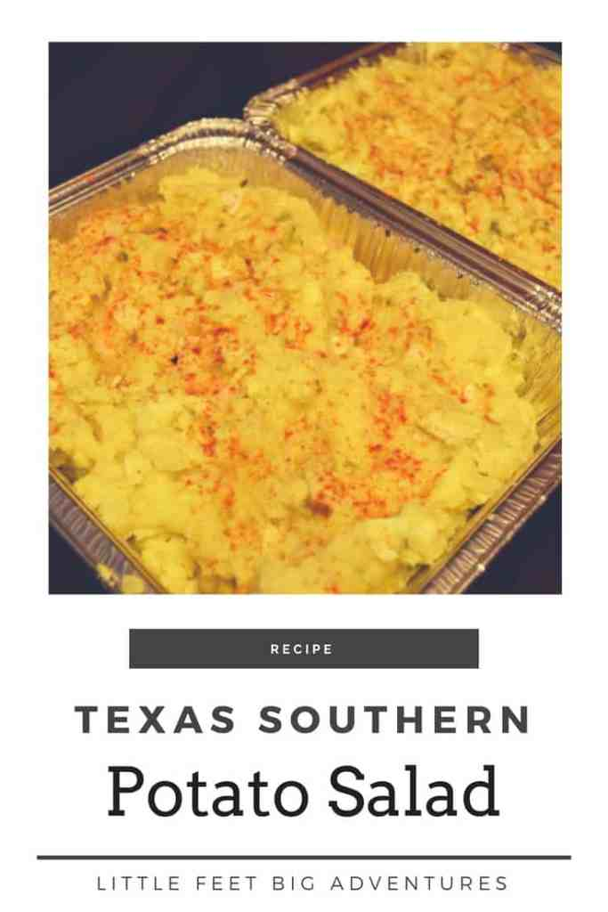 Texas southern potato salad recipe. Perfect for summer BBQs and to feed large groups of people.
