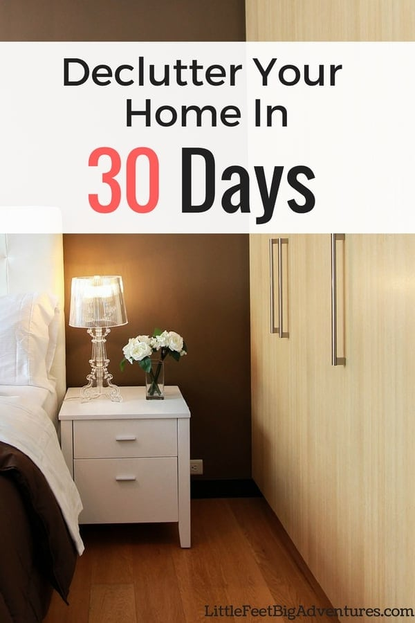 Are you wanting to declutter your home. Find out how you can declutter your home in 30 days. #declutter #organized