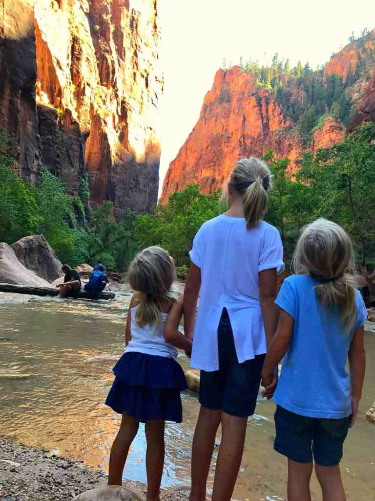 When visiting Vegas with kids you must take a day trip to Zion National Park.