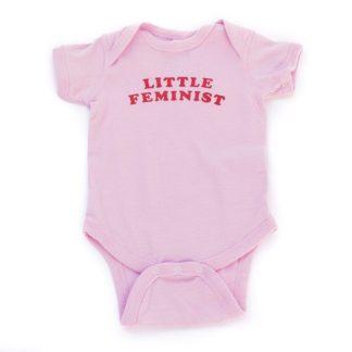 Little Feminist pink onesie