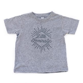 Little Feminist grey kid's shirt