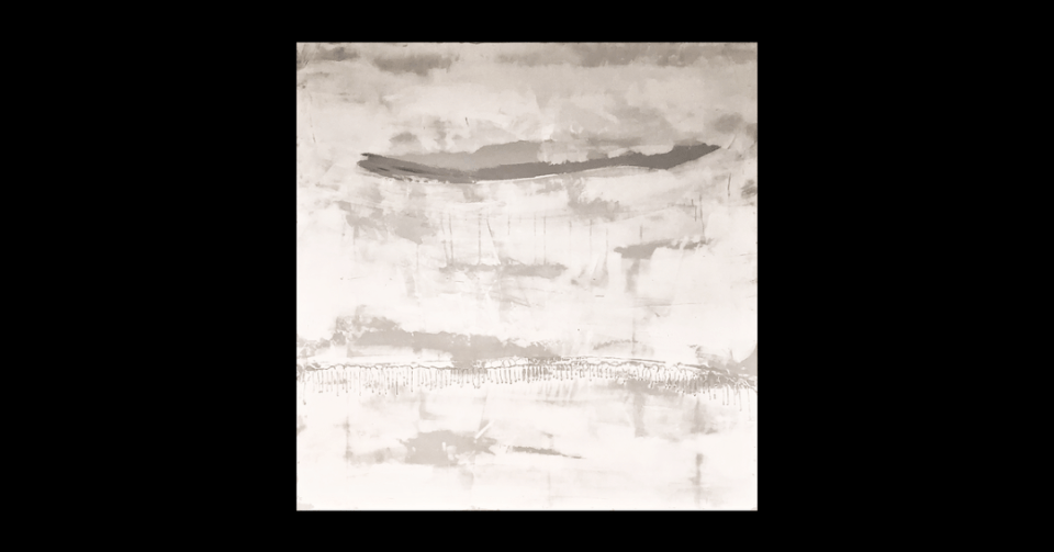 white and grey abstract painting