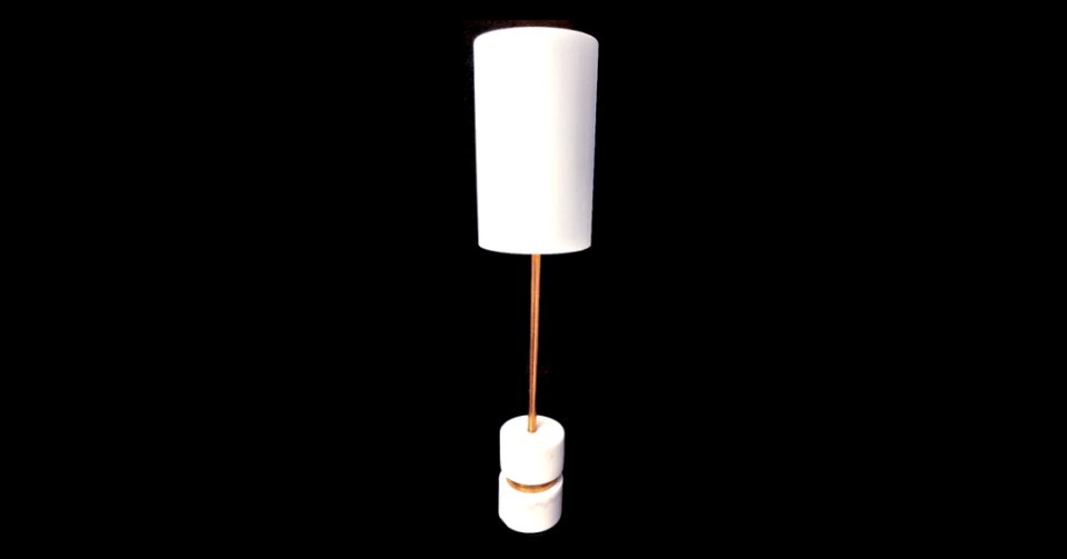 homsie white gold lamp full view