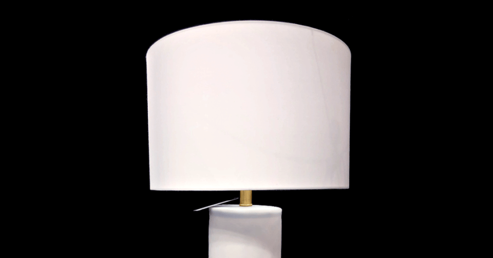 kellogg white mineral lamp shade
