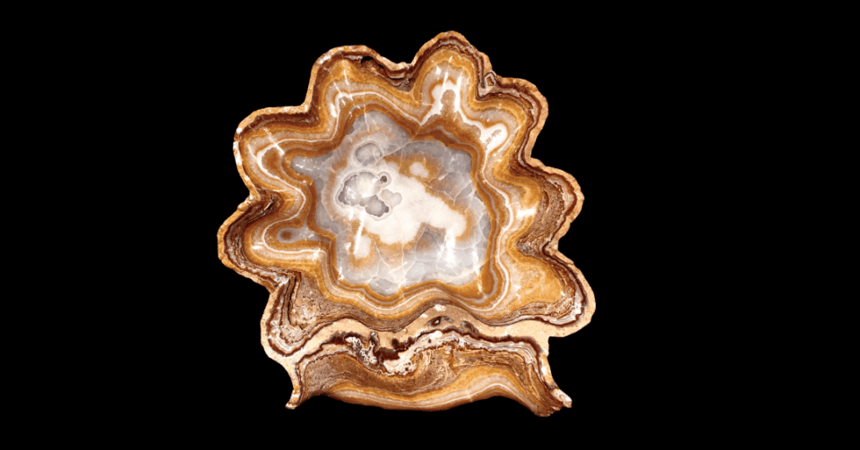 round gold onyx bowl vertical view
