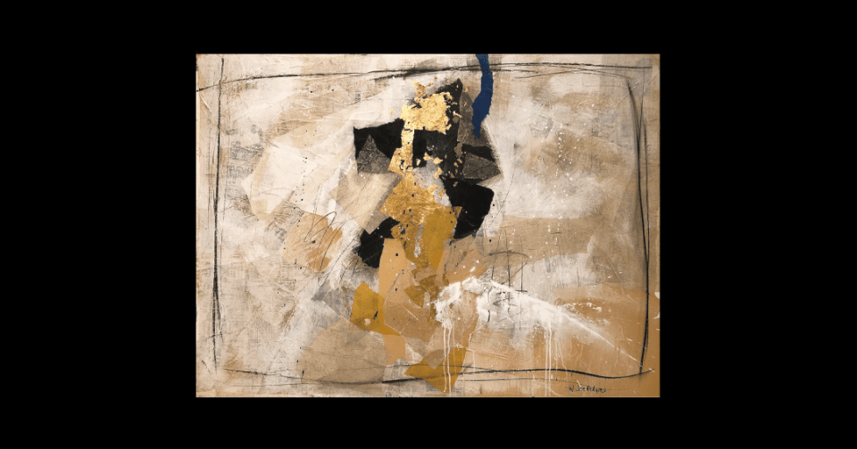 gold abstract collage