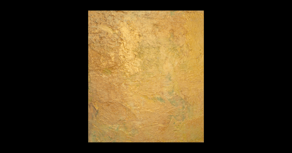 celebration gold abstract painting vertical view