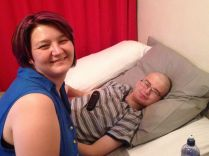 Ilse dyed hair no shaving - Lavendar for all Cancers Nov 2014