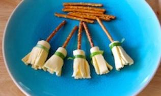 Cheesy Pretzel Broomsticks