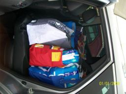 Another private car packed full of goodies to deliver