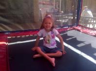 September 2012 - Having fun on the trampoline