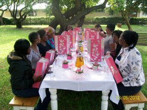 Beautifully decorated table for Mother's Day