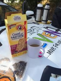 Biltong, breakfast cookies and coffee!