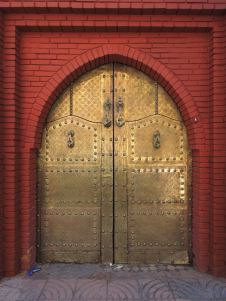 Doors to a private residence, Nouvelle Ville of Marrakech