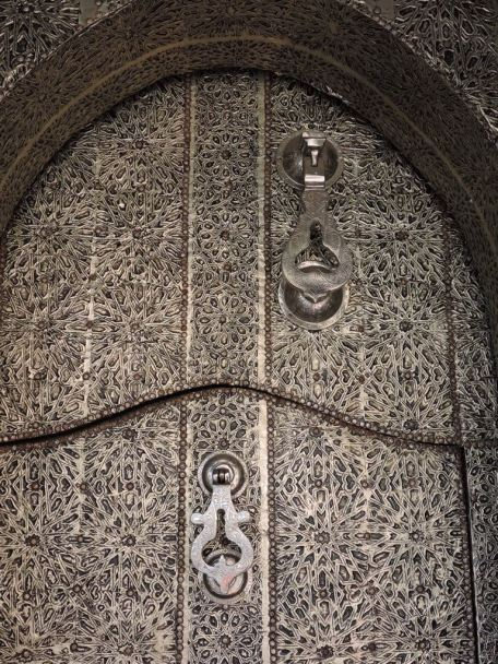 Metal work can be so intricate in front doors.