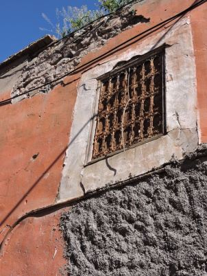 Intricately barred Window in the medina of Marrakech.