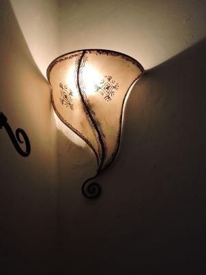 Hotel room light.
