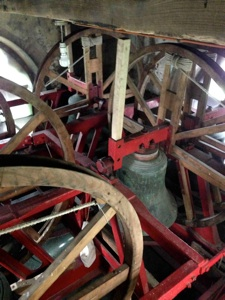 Photo of the ring of six bells in the tower