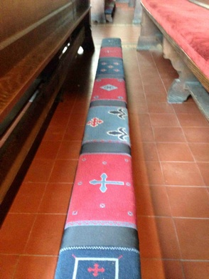 Photo of tapestry kneelers