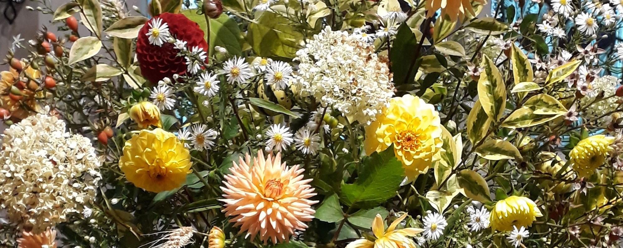 Detail of flower arrangement