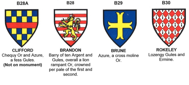 Arms of Clifford, Brandon, Brune and Rokeley
