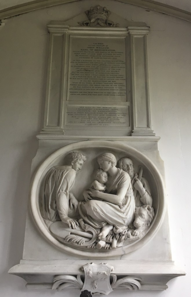 Photo of Bas Relief above the altar in the Bridgewater chapel.