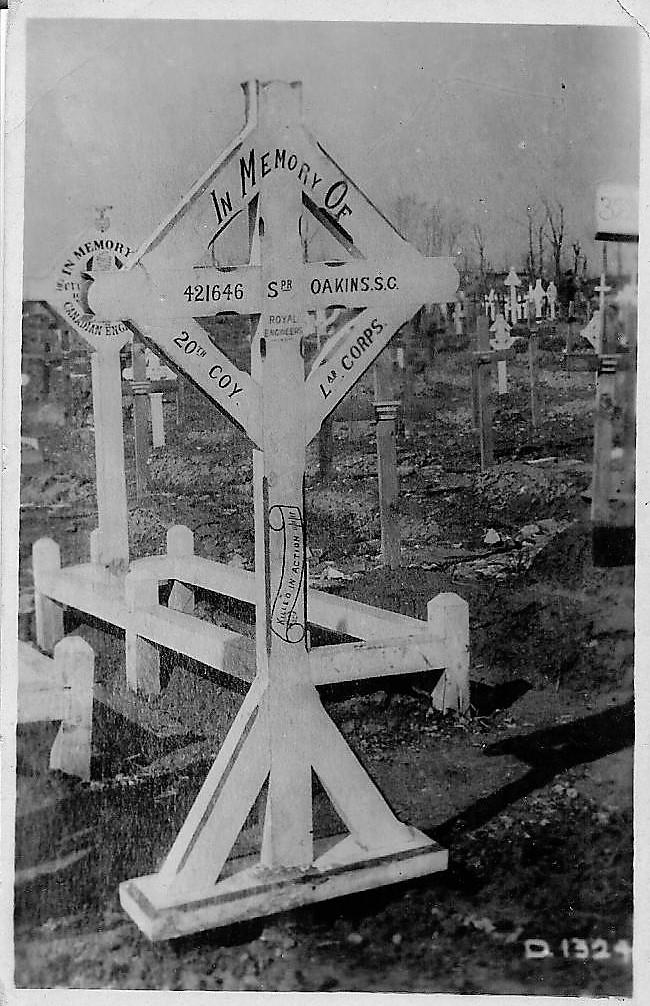 Photo of Sam's Grave Marker Ypres Reservoir Cem