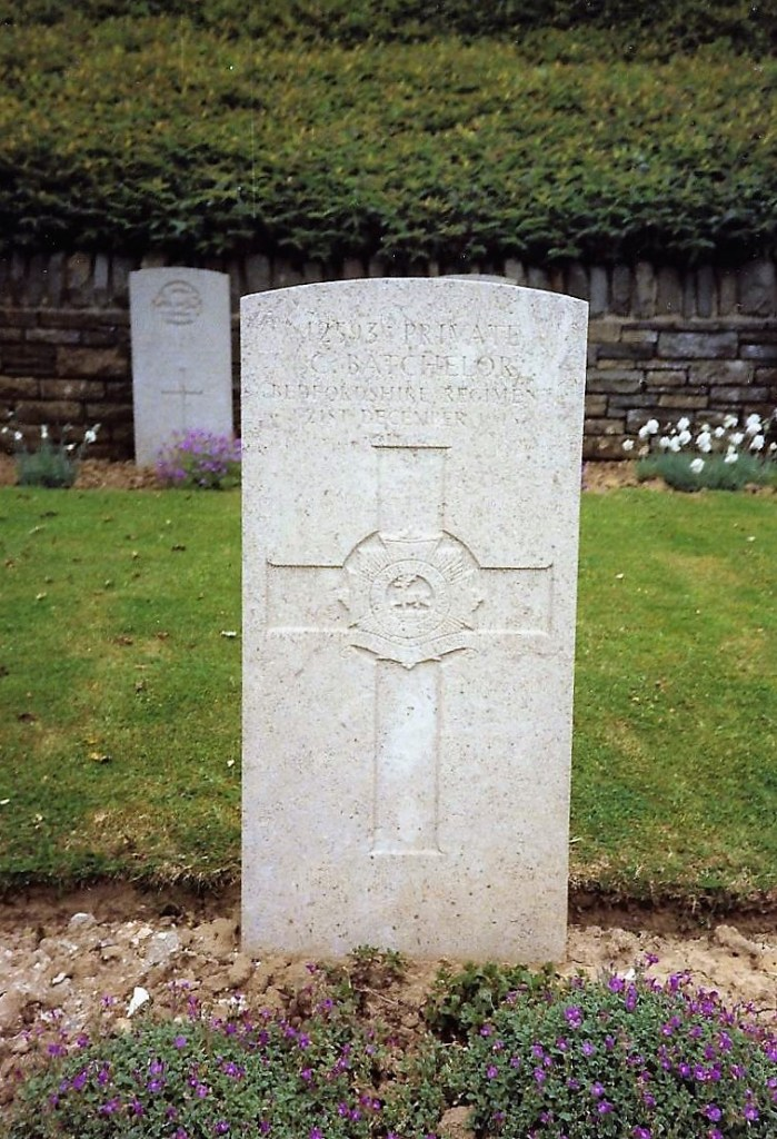 Photo of Charles Batchelor's grave in France