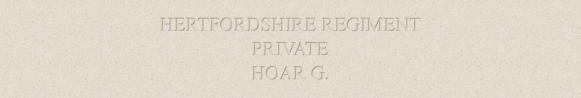 George Hoar Header