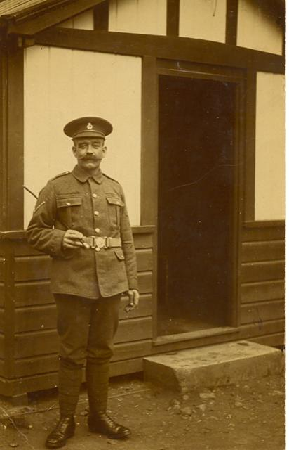 Photo of Joseph Whitman in uniform