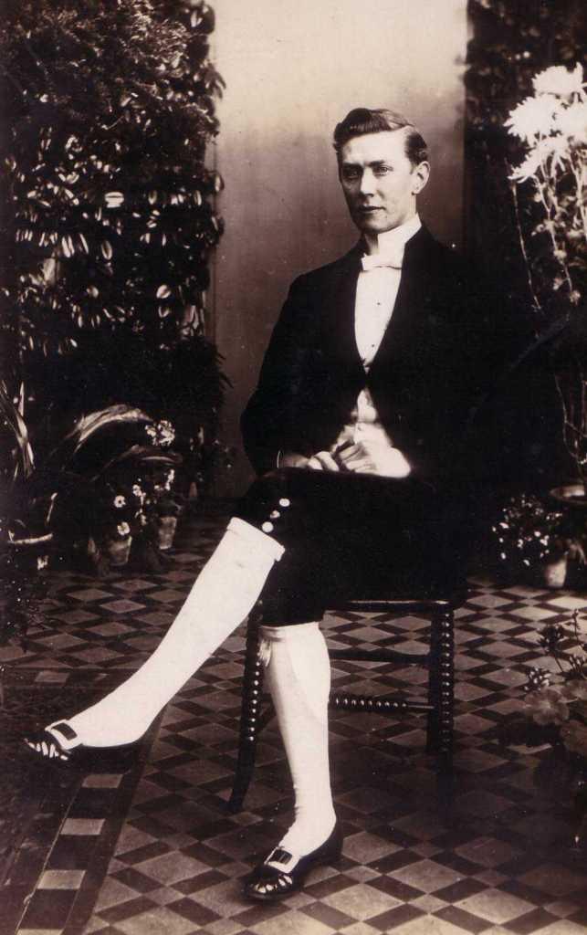 Photo of Herbert Flowers when a Footman at Longleat