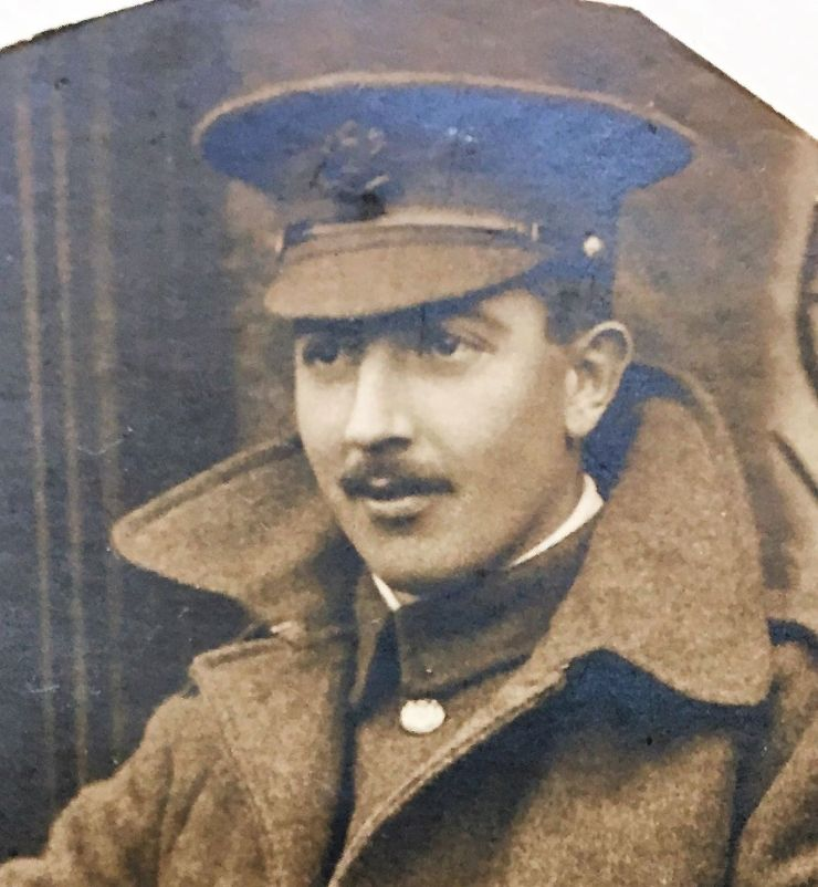 Photo of Edward Saunders in uniform