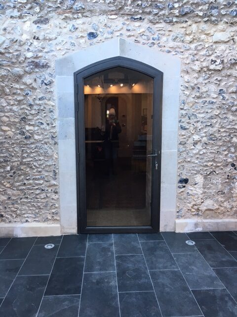 Photo of building works - the bronze door