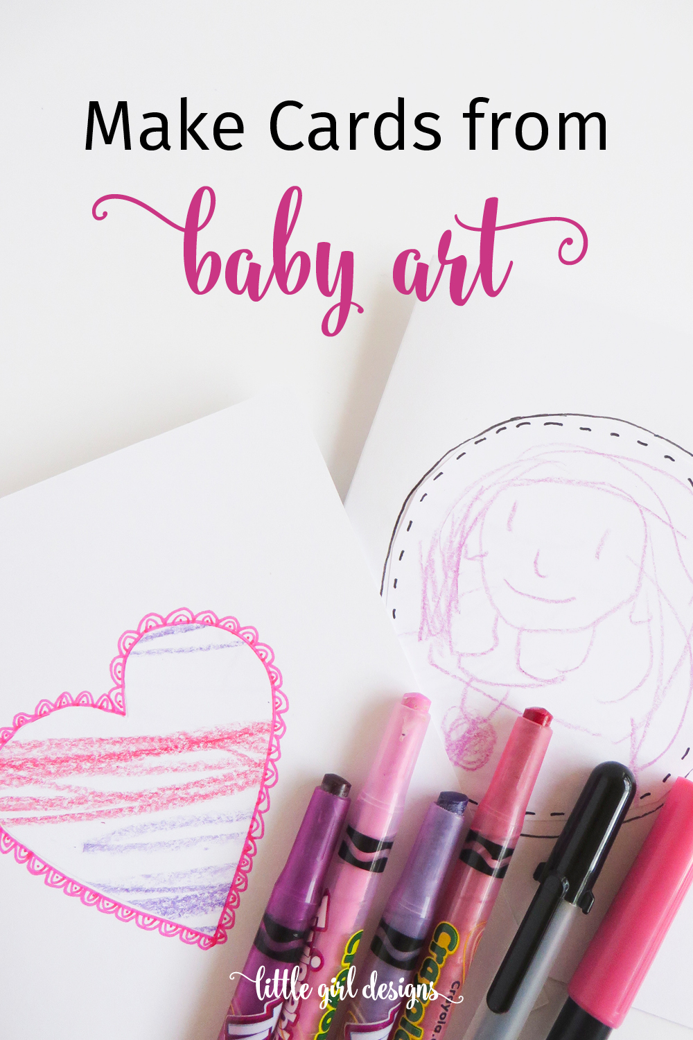 How to transform your baby scribbles into sweet works of art to give to Nana. Perfect for Mother's Day, Valentine's Day, and birthdays. Love these!