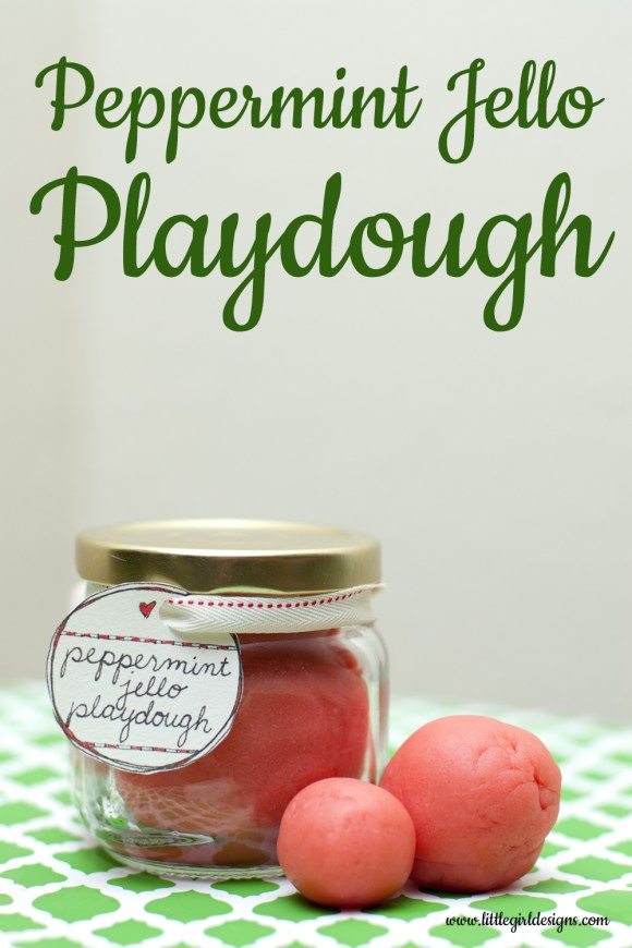 Peppermint Jello Playdough - This is my new favorite playdough recipe. You'll want to mix up a batch this afternoon! @ littlegirldesigns.com