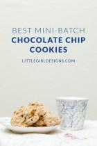 Best Mini-Batch Chocolate Chip Cookies
