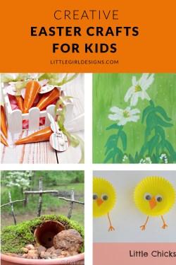 Four creative Easter crafts for kids that you'll love @littlegirldesigns.com