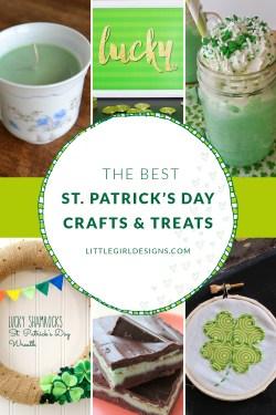 The Best St Patrick's Day Crafts And Treats (Plus a Free Printable!) @littlegirldesigns.com. #stpatricksdaycrafts #stpatricksdaydesserts