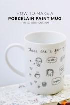 Decorate a Mug with a Porcelain Paint Pen