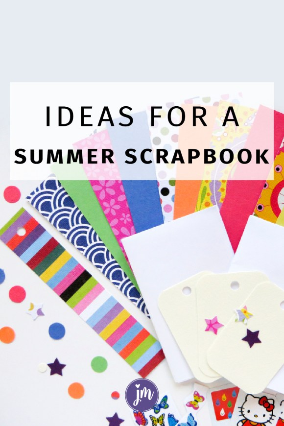 Make a summer scrapbook with these fun ideas! This is a great and simple project for kids to put together. I used to make these every summer with my mom!
