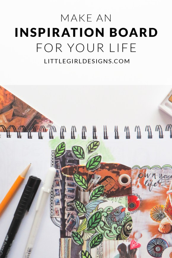 Want to learn how to create a vision board for your life? Get ideas for making inspiration boards for your dreams and goals in this post. I'll share examples of some of the inspiration boards I've made in the past; they're super easy to make!