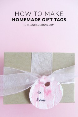 DIY Gift Tags - Why buy gift tags when you can make your own in minutes? This also makes a fun kid's craft! via littlegirldesigns.com