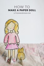How to Make a Paper Doll - Here's a tutorial on how to make a sweet paper doll and her friend. You'll love how easy this is and might not want to give it away when you're finished! :) via littlegirldesigns.com