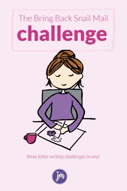 Get three letter writing challenges for the cost of a fancy hot chocolate! These challenges have been loved by thousands around the world, and now you can have them all in one place. You'll receive printable stationery, calendars, and more! Let's get back into letter writing and send some love into the world today!