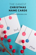 The Easiest Christmas Name Cards Ever