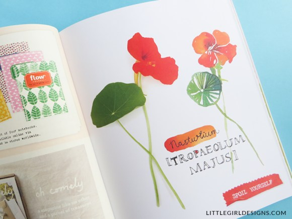 Inspired by Flow Magazine - Ideas for Cards & Art - I LOVE Flow magazine and when I saw a spread in their latest issue, I was inspired to try this technique to make some meaningful cards and art for my home and for friends. This is such a great gift idea! via littlegirldesigs.com